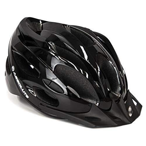 Capacete Ciclismo Bike Absolute Nero Wt032 Led Pisca Viseira (Preto M)