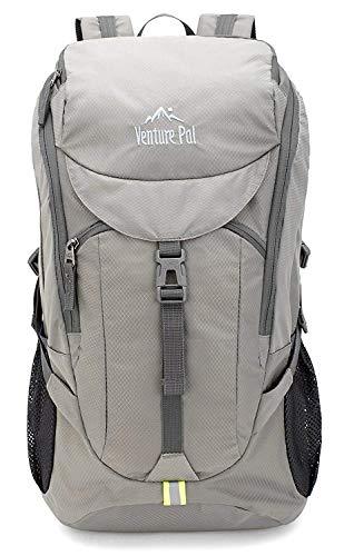 Venture Pal Hiking Backpack - Packable Durable Lightweight Travel Backpack Daypack for Women Men(grey)