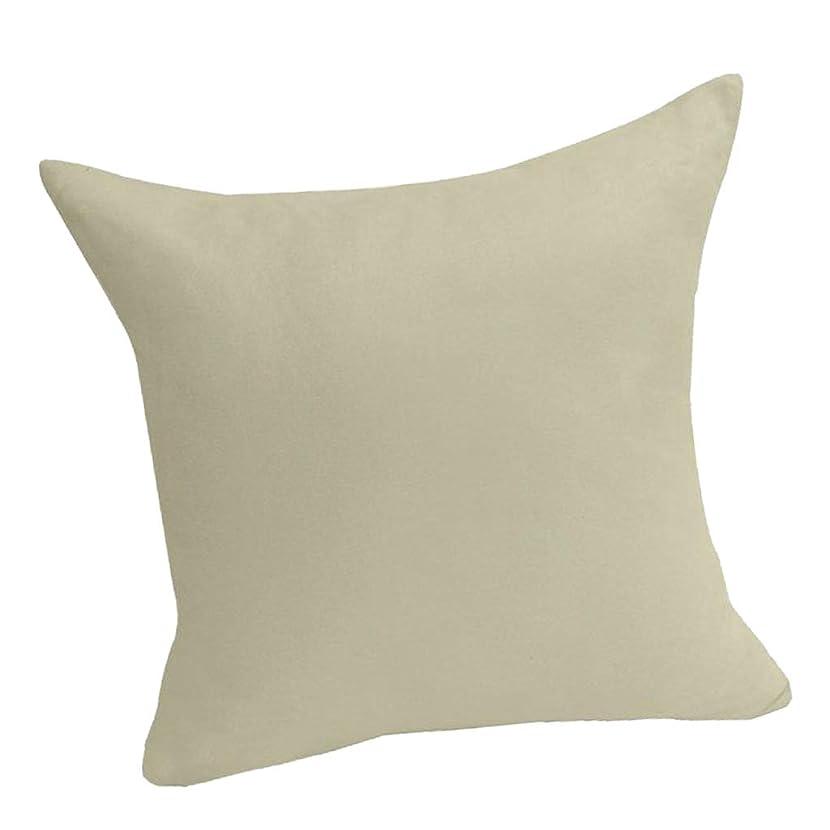 構造的幻滅ハイジャック柔らかい ビロード 枕カバー 無地 クッションカバー 多色2サイズ - クリーミーホワイト, 45x45cm