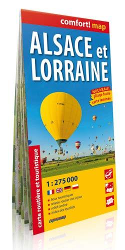 Alsacia y Lorena 1:275.000 mapa de carreteras plastificado. ExpressMap. (Comfort ! Map)