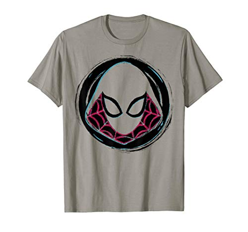 Marvel Spider-Gwen Face Symbol Badge Graphic T-Shirt