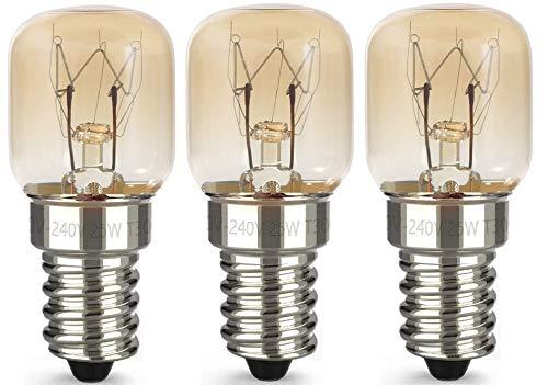 AcornSolution 25W T22 E14 230-240V SES Dimmbare klare GLS-Glühbirne für Kühl- und Gefriergeräte (3er-Pack)