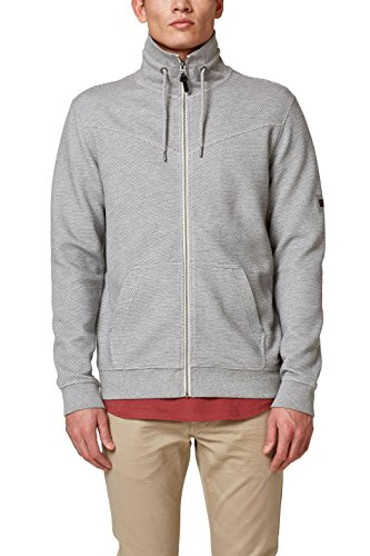 edc by ESPRIT Herren 028CC2J002 Sweatshirt, Grau (Grey 030), XX-Large