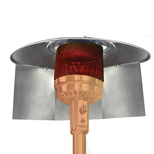 XiaoCheyh Wärmereflektor für Terrassenheizung, Schutzhülle der Außenterrassenheizung, Wärmefokussierender Reflektor für runde Erdgas- und Propan-Terrassenheizungen (3 STK, Silber)