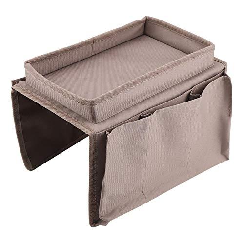 Shipenophy con portavasos Bandeja Bolsa de Almacenamiento para sofá Libros Ideal para clasificar revistas iPad(Coffee)