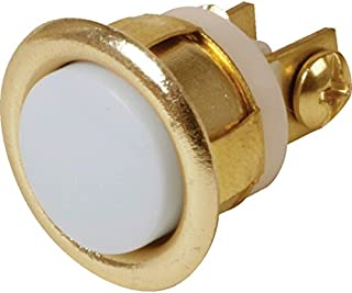 Newhouse Hardware FMB Unlighted Doorbell Button, 1-Pack, Brass