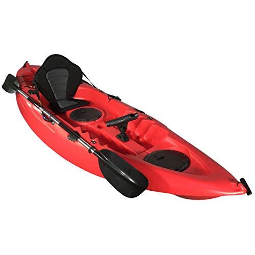 Cambridge Kayaks ES, Zander Rojo Solo Kayak DE Pesca Y Paseo, RIGIDO,