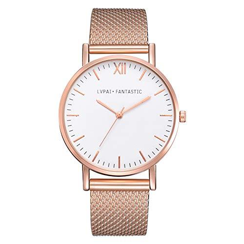Damen Quartz Analog Armbanduhren Piebo Frauen Uhren Uhrenarmband Armbanduhr Wrist Watch Steel Armband Casual Watches Überwachung Watch Stahl Analoge Quarz Uhr Uhrenarmband Uhren Geschenk (E)