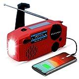 iRonsnow Emergency Solar Hand Crank NOAA Weather Radio with AM/FM, 2000mAh Power Bank