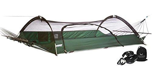 Lawson Hammock Blue Ridge Strap Bundle Tent Hammock Camping, Forest Green Hammock & Strap
