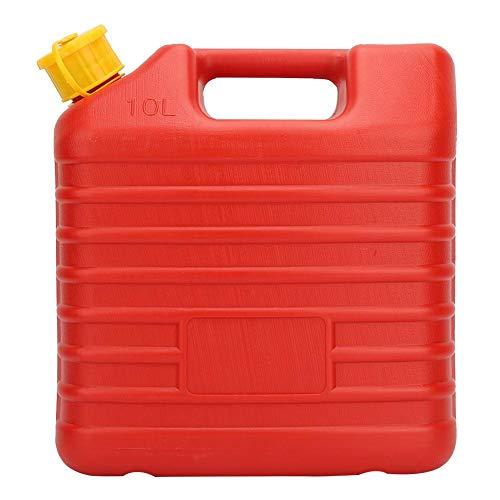 Recipiente de combustible, práctica lata de gas portátil de 10 l espesada con tubería para aceite combustible para diésel para gasolina