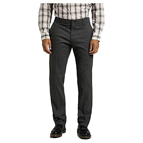 Lee Extreme Motion Chino Pantalones, Gris Oscuro, 36W x 30L para Hombre