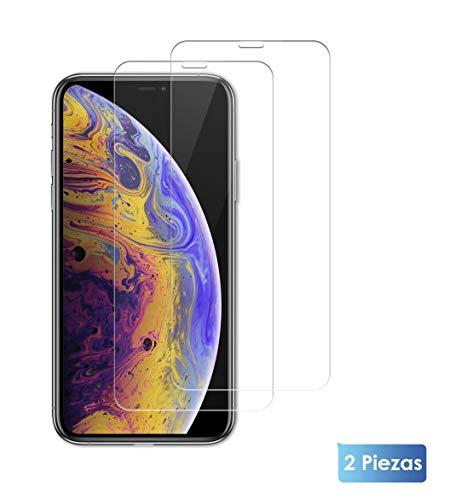 JOLY JOY Mica de iPhone XS MAX [2], Protector de Pantalla de Cristal Templado para iPhone XS MAX (iPhone XS MAX)