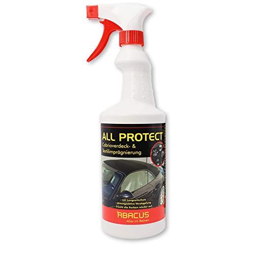 ABACUS All Protect 750 ml (4021) - Cabriodachimprägnierung Textilimprägnierung Markisenimprägnierung Stoffimprägnierung Cabrio Verdeckimprägnierung wasserabweißend Nano Abperleffekt