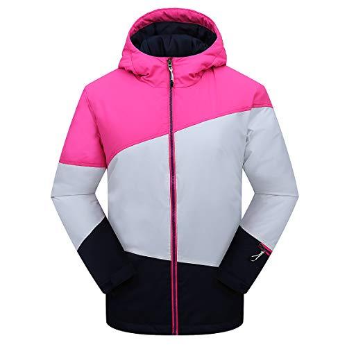 PHIBEE Sportswear - Chaqueta de esquí para niña (Impermeable, Resistente al Viento)