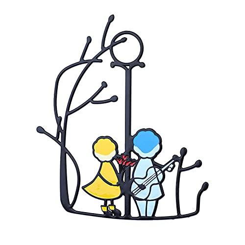 SHANGH Suncatcher Kunst Fenster Behänge Engel Paar Liebe Wohnkultur Geschenk Windspiele & Hängen Dekorationen