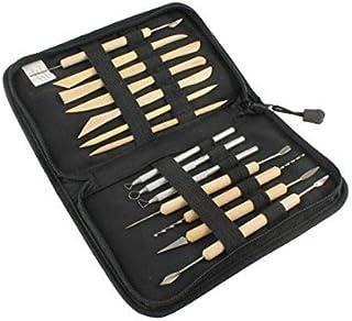 14 قطعة مجموعة أدوات النحت والخشب المعدني من الفخار الاحترافي
