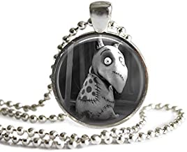 Sparky 1 Inch Silver Plated Frankenweenie Pendant Necklace