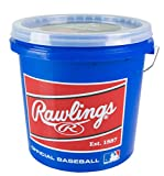 Rawlings Game Play Baseballs, Youth (12U), (Bucket of 24), R12UBUCK24