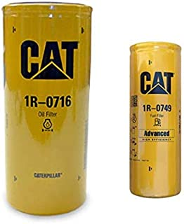 Genuine Caterpillar 1R0716 and 1R0749 Engine Oil and Fuel Filter ENGINE - TRUCK 3306C, 3406C, C-12, 3176, 3306B, 3406E, C-16, C-15, 3406B, C18, C-9, C9, C-18, C-10, C15, 3306, 3176B, C16