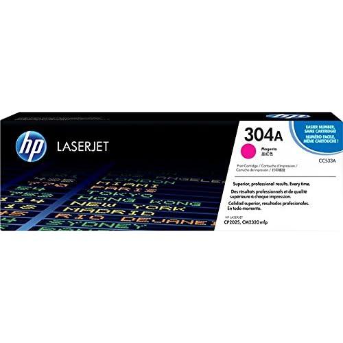 HP 304A CC533A Cartuccia Toner Originale da 2800 Pagine, Compatibile con le Stampanti Color Laserjet Serie CP2020 e CM 2300, Magenta