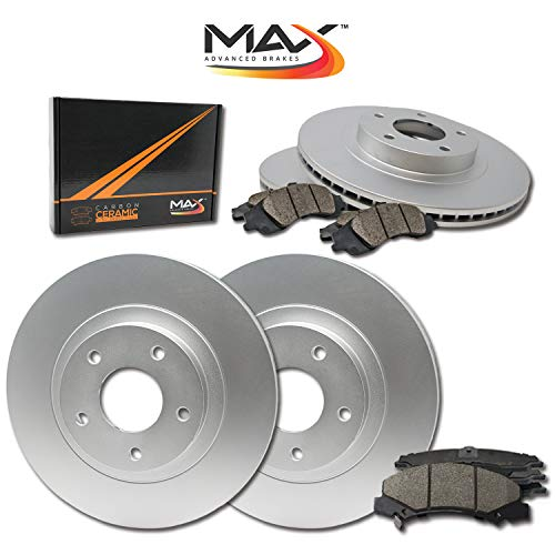 [Front + Rear] Max Brakes Geomet OE Rotors with Carbon Ceramic Pads KT174163