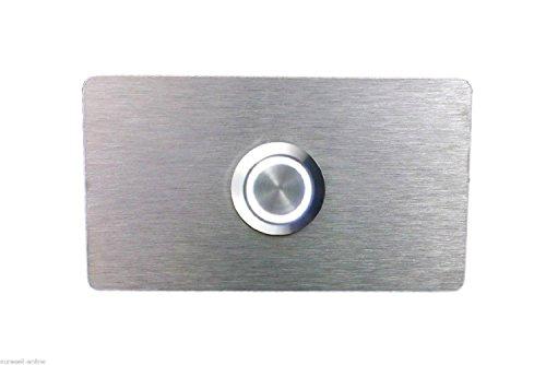 Eurosell - Beleuchtete Design V2A Edelstahl Klingelplatte Klingel Platte Schild Türklingel Klingelknopf Klingelschild beleuchtet weiß LED