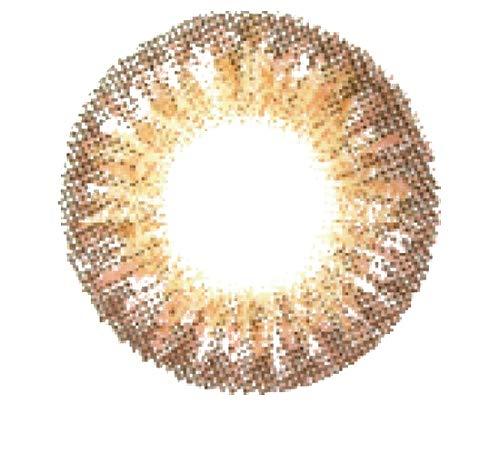 Matlens - Pro Trend Farbige Kontaktlinsen mit Stärke natürlich World TriColor PD-314 braun brown2 Linsen 1 Kontaktlinsenbehälter 1 Pflegemittel 50ml