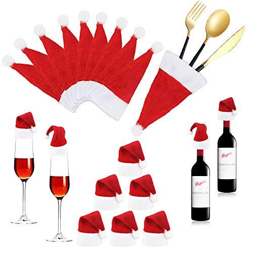 BUZIFU Cubiertos Navidad 20 unids Adorno Mesa Navidad Cuchil