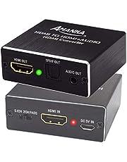 AMANKA HDMI Audio Extractor Ultra HD 4K x 2K HDMI a HDMI SPDIF/Toslink Óptico Salida de Audio de 3,5 mm para PS3 PS4 BLU-Ray DVD Xbox TV