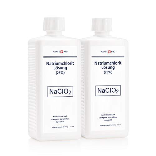 HANSE PRO Natriumchlorit Lösung (25%), 2 x 500 ml, nach Original-Rezeptur, deutsches Qualitätsprodukt