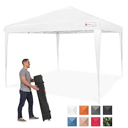 Best Choice Products 10x10ft Outdoor Portable Adjustable Instant Pop Up Gazebo Canopy Tent w/Carrying Bag - White