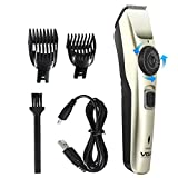 Generic VGR Professional Mens Electric Hair Trimmer, Household Salon Barber Adjustable Precision Dial Tunable Cordless Beard Shaver Trimmer Hair Cutting Kit