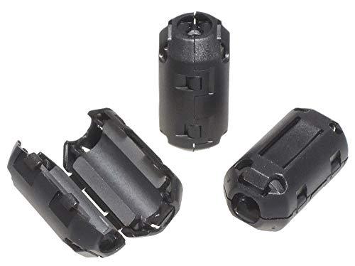 KAUMO フェライトコア φ7mm 10個パック 耐高温 耐腐食 耐摩耗性 ノイズフィルター ノイズ吸収