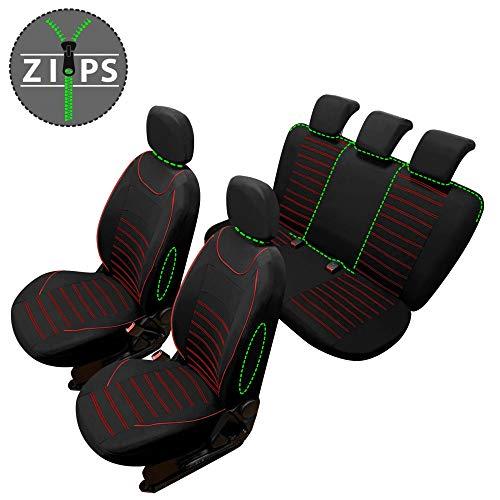 rmg-distribuzione Coprisedili compatibili per 500 L Versione (2012 - in Poi) compatibili con sedili con airbag, bracciolo Laterale, sedili Posteriori sdoppiabili R62S0168