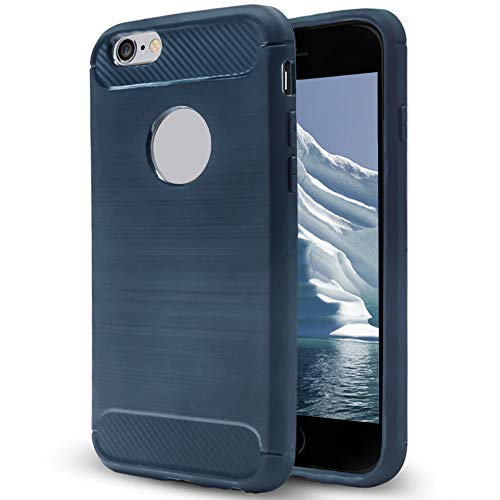 Cover Antiscivolo per iPhone 6 Plus / 6s Plus   Blu   Gomma Morbida Elegante e