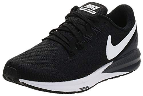 Nike Air Zoom Structure 22, Zapatillas Mujer, Negro (Black/White-Gridiron 002), 36.5 EU