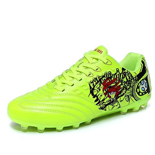 D-Zhi Schuhe für Herren, sportlich, leicht, zum Laufen im Freien, Komfortables Training, Fußball-Schuhe, Grn (grün), 47 EU