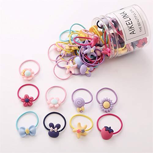 こども ヘアゴム - 60本 髪ゴム 子供用ヘア輪ゴム 可愛いヘアリング 小さい 誕生日 飾り ヘアアクセサリー 女の子 プレゼント キャンディーカラー