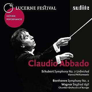 """シューベルト : 交響曲D.759『未完成』、ベートーヴェン : 交響曲第2番、他 / クラウディオ・アバド、ウィーン・フィルハーモニー管弦楽団 (Schubert : Symphony""""Unfinished"""" & Beethoven : Sy..."""
