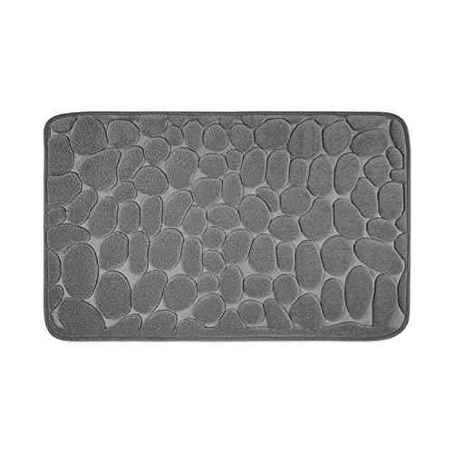 WohnDirect Tapis de Bain Mousse à mémoire de Forme antidérapant • Tapis de Bain 50 x 80 cm - Gris