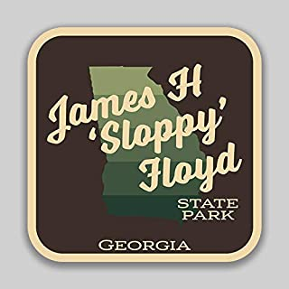 JMM Industries James H Sloppy Floyd State Park GeorgiaVinyl Decal Sticker Car Window Bumper 2-Pack 4-Inches by 4-Inches Premium Quality UV Protective Laminate SPS00918