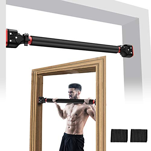 Aoyar Doorway Pull Up Bar Door Frame Chin Up Bar Adjustable Upper Body Workout Bar No Screw Installation Multifunctional Strength Training for Home Gym Fitness Exercise up to 440 lbs