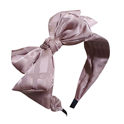 Sayhi Lovely Style Multi-Layer Bow Headband Broadside Comfortable Hair Hoop Hair Accessories for Girls Women (Multicolor_D,Free Size)