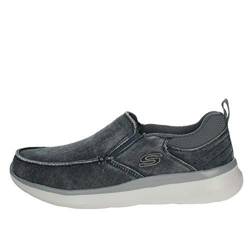 Skechers Delson 2.0 Larwin, Zapatillas sin Cordones Hombre, Azul (Blue Canvas BLU), 43 EU