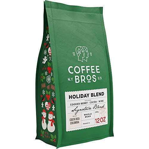 Coffee Bros., Holiday Blend Whole Bean — 100% Arabica — 1 Bag (12oz) — Medium Roast — Great Holiday Gift