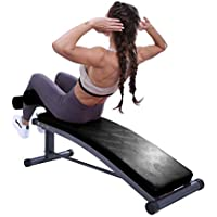 Finer Form Sit Up Bench With Reverse Crunch Handle