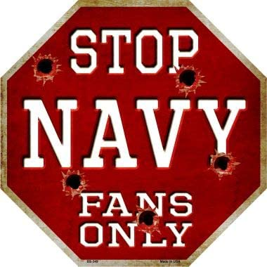 SMART BLONDE Navy Fans Only Metal BS-3 Ranking TOP15 Sign Octagon Novelty 2021new shipping free shipping Stop