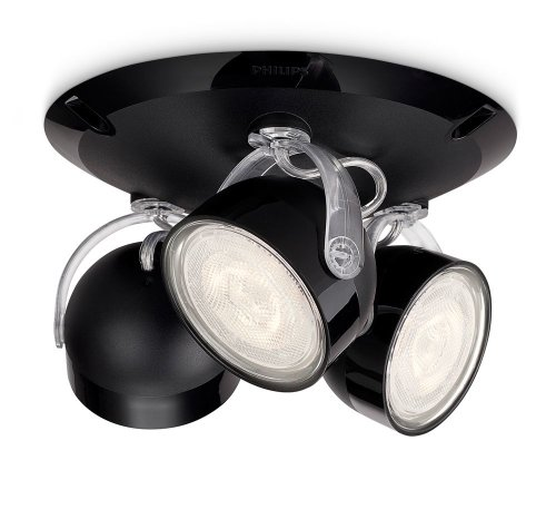 Philips myLiving LED Spotrondell Dyna 3-flammig, schwarz