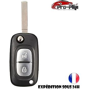 Coquille de cles SODIAL R 2 boutons Remplacement le pliage a distance enveloppe coquille porte-telecommande Clef pliable pour Renault Clio Megane Kangoo Modus